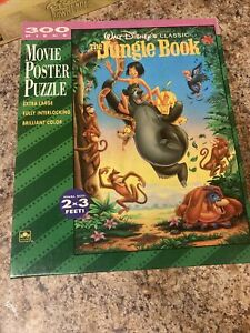 Disney's The Jungle Book Movie Poster Puzzle #5152 Golden 300 Pieces Complete
