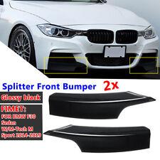 Glossy Black Splitter Front Bumper For BMW F30 Sedan W/ M-Tech M Sport  !!