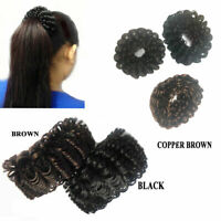 Synthetic Hair Scrunchie Bun Bobbles Fake Elastic Tie Ponytail Holder Ring Cover