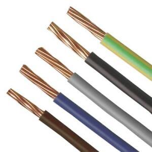 Single Core Conduit Cable Wire 6491B  Choose Colour & Length 1.5mm - 6.0mm
