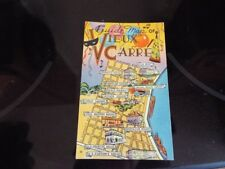 Picture Guide Map Vieux Carre New Orleans French Quarter Party Theme Vntg PC d