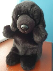 """12"""" Black Labrador puppet LABRADORS dog hand puppet dogs plush hand puppets dogs"""
