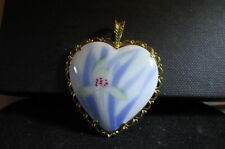 Fine Bone China Porcelain Pendant-Hand Painted Gold Tone-Fukagawa Japan