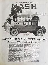 1927 Nash Advanced Six Victoria Four Passenger Car Original Ad