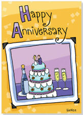 Oatmeal Studios Photo of Anniversary Cake Anniversary Card