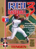 R.B.I. Baseball 3  Nintendo Nes Cleaned & Tested