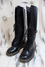 Dr. Martens Black Leather Boots 20 eyelet size womens 5 mens 4 New WO tags