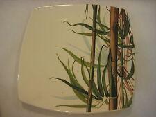 "Italian Ceramics Company ""Laguna"" Hand Painted Round Bamboo Square Plate (Rare)"