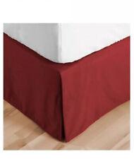 Nib Newport Home Santiago Red Queen Tailored Bed Skirt 18� Drop