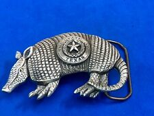 Figural, Cut out Armadillo from The star state of Tx Texas American Belt Buckle