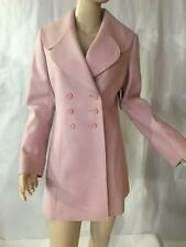 Juicy Couture silver pink melton wool princess coat a- line S $449