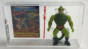 MOTU Vintage Loose Whiplash with Comic Series 4 No COO Mattel 1985 AFA UKG 80%