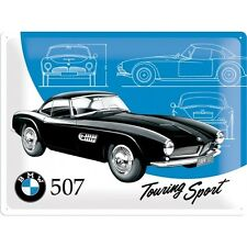 BMW 507 OLDTIMER AUTO * TOURING SPORT * BLECHSCHILD * NOSTALGIE * 30X40 * NEU!