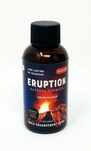 Eruption 35000mg Male Enhancement Grape Flavor Drink 2 Fl Oz Shot