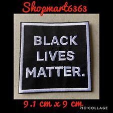 Set 5 Black Lives Matter 3 Sew On Patches Peace Sign American Flag Fist Heart