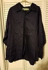 3XL-RG Official Workwear shirt, long sleeve 100% cotton. navy