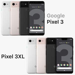 Fully Unlocked Google Pixel 3 / 3XL [ 64GB 128GB ] Black White Pink (CDMA+GSM)