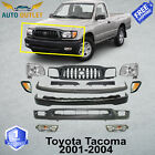 New Front Bumper Kit Primed Grille Head Lights For 2001-2004 Toyota Tacoma