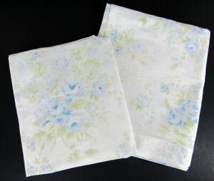Rachel Ashwell Simply Shabby Chic BLUE BRITISH ROSE Window Panels Drape Curtain
