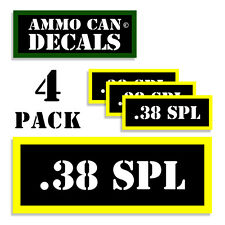 ".38 SPECIAL Ammo Can Labels Ammunition Case 3""x1.15"" sticker decal 4 pack BLYW"