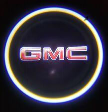 2PCS GMC LED Rechargeable Car Door Projector Shadow Laser Light Logo Universal