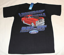 Ford XY Falcon 351 GT Boys Black Printed Cotton Short Sleeve T Shirt Size 14