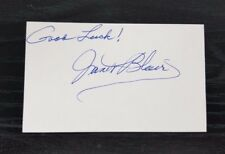 Big Band Singer Actress Janet Blair Hand Signed Index Card Todd Mueller W/CoA
