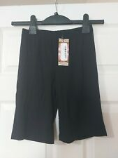 Boohoo Bicycle Shorts Black Size 12 Brand New With Tags