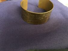 Large Brass Quote Bracelet Erin Hansen What If You Fly