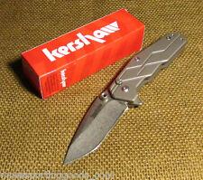 Kershaw Dimension Titanium Handle Stonewash Finish 8Cr13MoV Knife 3810