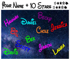 Personalised Boys or Girls Name With Stars Deco Vinyl Wall Sticker Decal
