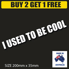 """BUY2 GET 1 FREE """" I USD to be Cool  """"Drift  racing vinyl cut decal sticker"""