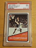 1972 Topps Basketball #241 PSA 9 MINT ABA Championship Pacers Game 1 Low Pop
