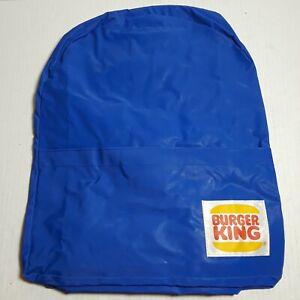 """Vtg Burger King Small Nylon Blue Backpack 14.5"""" Tall Promotional Advertising"""