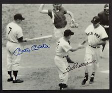 MICKEY MANTLE & TED WILLIAMS  AUTOGRAPHED PHOTO....COA