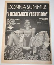 DONNA SUMMER 1977 Full page I Remember Yesterday LP UK AD poster clipping