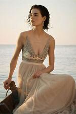 New Anthropologie BHLDN Brisa Dress NWT beige By Needle and Thread beaded Sz 10
