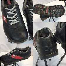 True Linkswear Golf Shoes Sz 10.5 Black Leather EUC YGI J8S-38