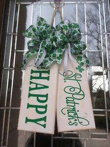 Happy St. Patrick's Large Wooden Door Tags Door Sign Farmhouse