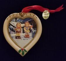 "Hummel Christmas Ornament Danbury Mint Heart Shaped ""Christmas Carol"""