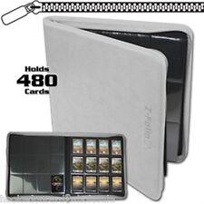 BCW White Zipper Z-Folio LX Binder Album 12 Pocket Pages Card Storage