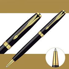 Parker Sonnet Ballpoint Pen Golden Clip Business Ball point Pen Blue Refill H1