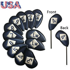 Club Glove Iron Head Covers Neoprene Protector Set 12 Pcs Blue Embroidery Number