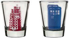 Dr Who Tardis et Dalek verres Rouge/bleu