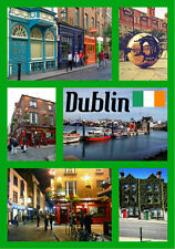 DUBLIN, IRELAND  - SOUVENIR NOVELTY FRIDGE MAGNET - SIGHTS / FLAGS - GIFTS - NEW