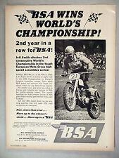 BSA Motorcycle PRINT AD - 1965 ~~ Jeff Smith, Moto-Cross ~~ B.S.A.