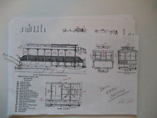 O scale Brill open trolley car building instructions with scale dimension