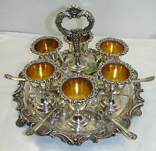 Antiquariato Coquetiers (portauova) in argento / silver Old Sheffield