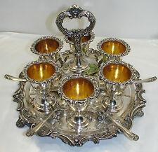 Antiquariato Coquetiers (portauova) in argento / silver Old Sheffield