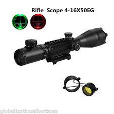 C4-16X50EG Tactical Red Green Dot Illuminated Hunting Rifle Scope Optics Reticle
